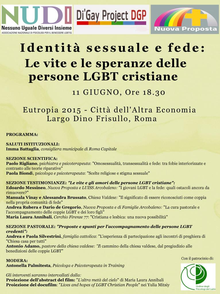 identità sessuale e fede roma